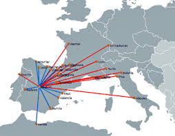 Air Nostrum Airlines route map
