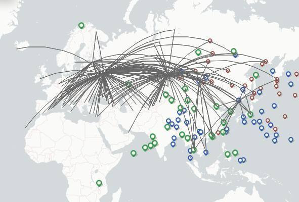 S7 Airlines route map
