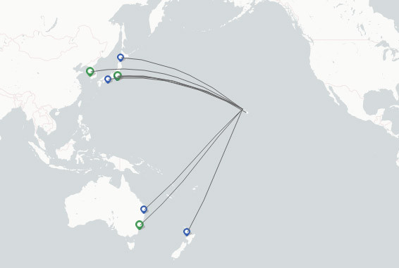 Hawaiian Airlines route map