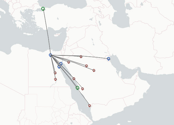 Nile Air route map