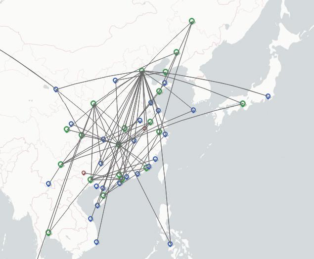 Okay Airways route map