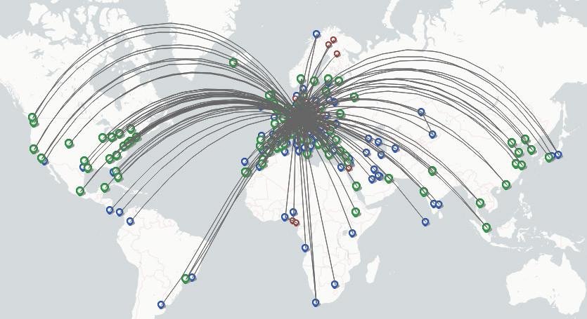 Lufthansa Cargo route map