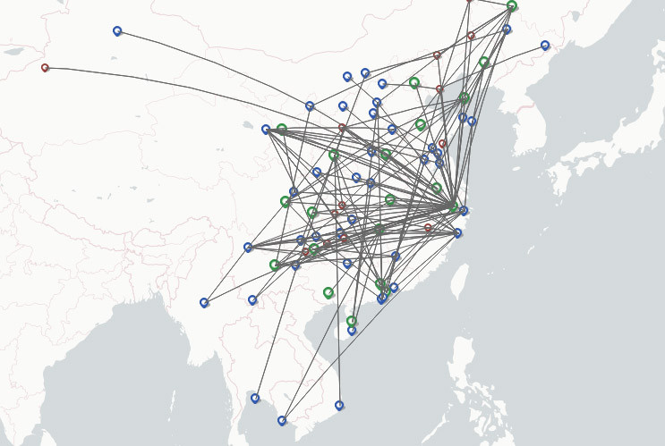 Loong Air route map