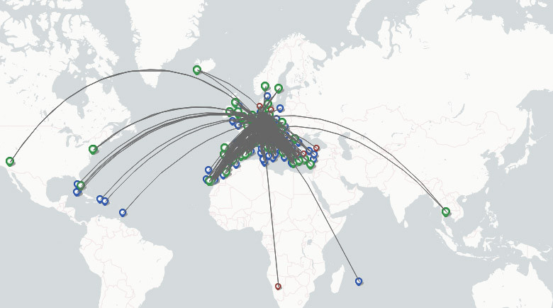 Eurowings Airlines route map