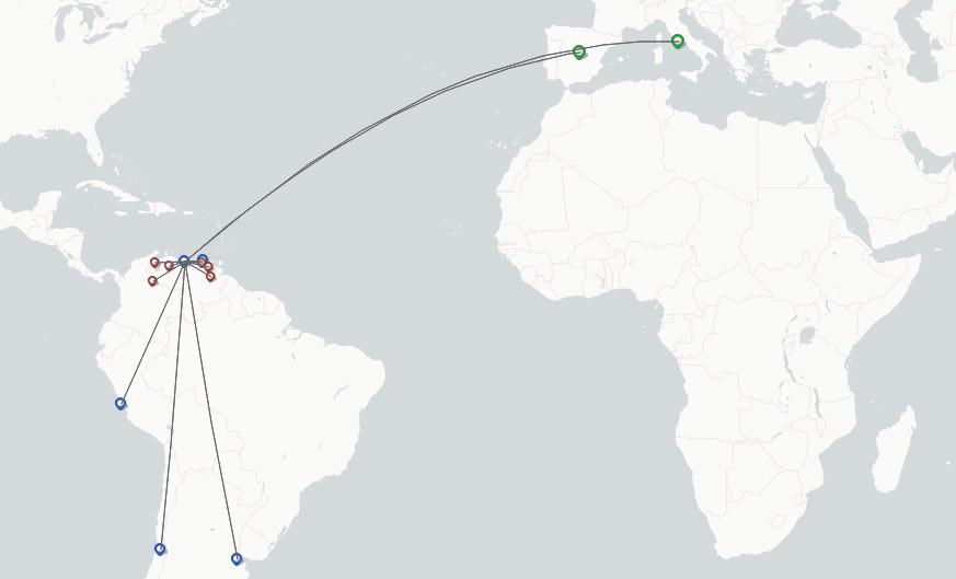 European Air Transport route map