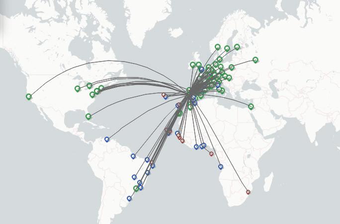 PGA-Portugalia Airlines route map