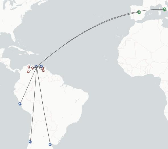 DHL Air route map