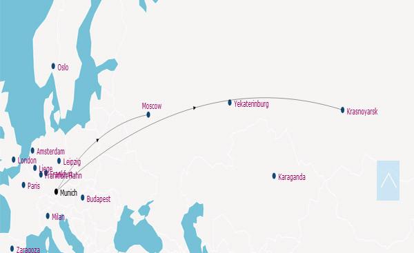 AirBridgeCargo Airlines route map