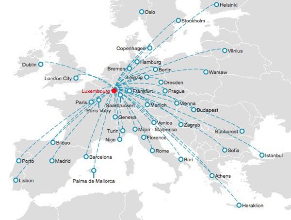Cargolux route map