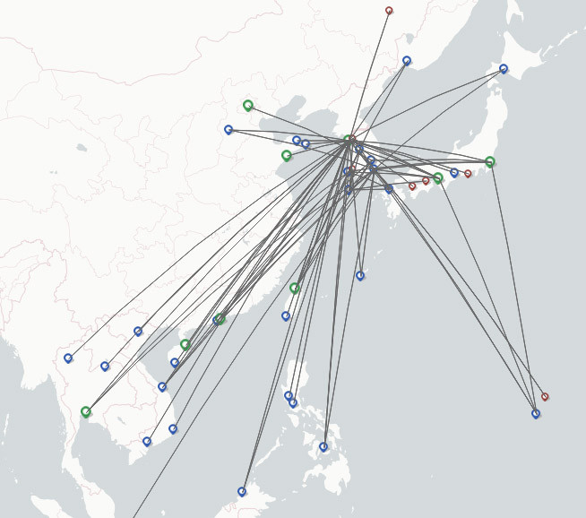 Jeju Airlines route map