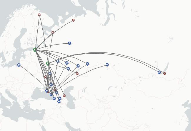 Smartavia route map