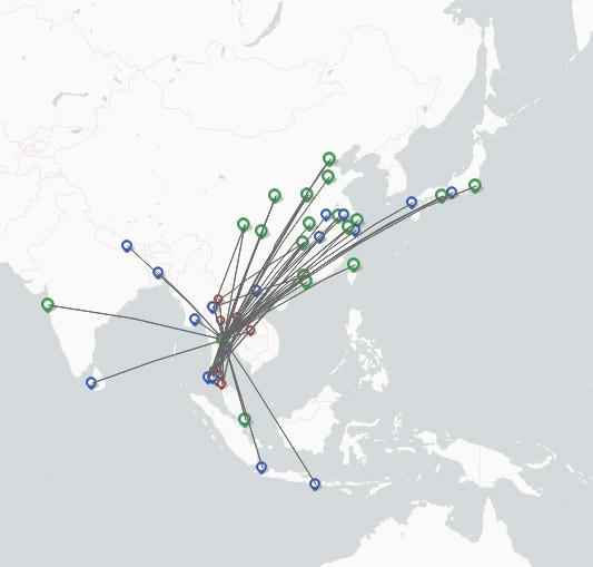 Thai Lion Air route map