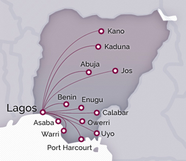Arik Air route map