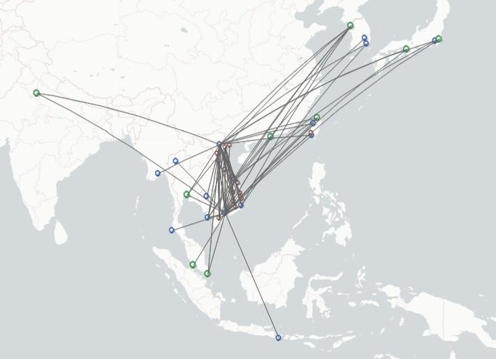 Vietjet route map