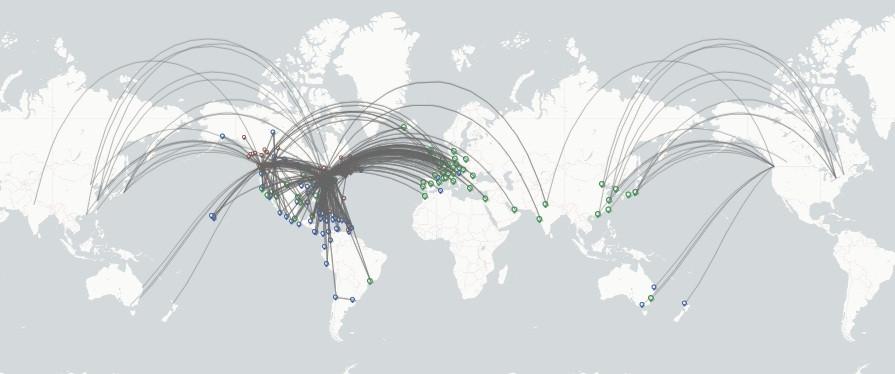Air Canada route map