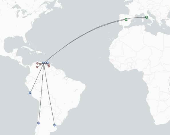DHL Aviation route map