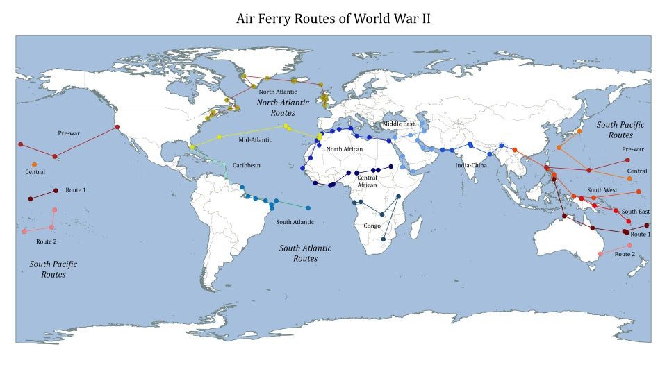 Allied Air route map