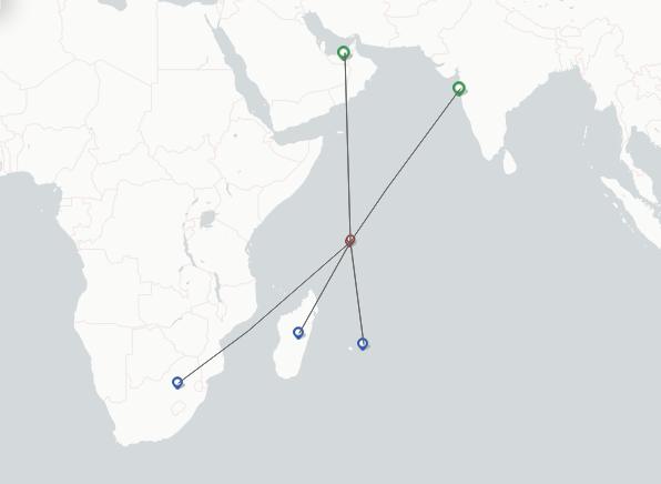 Air Seychelles route map